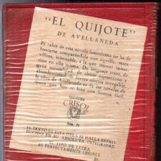 Libros de segunda mano: AVELLANEDA : EL QUIJOTE (AGUILAR CRISOL) AÚN PRECINTADO. Lote 218950610