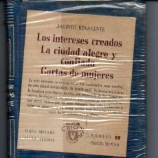 Libros de segunda mano: JACINTO BENAVENTE : LOS INTERESES CREADOS (AGUILAR CRISOL) AÚN PRECINTADO. Lote 218950661