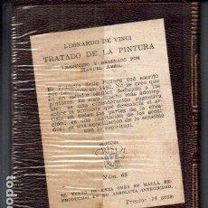 Libros de segunda mano: LEONARDO DA VINCI : TRATADO DE LA PINTURA (AGUILAR CRISOL) AÚN PRECINTADO. Lote 218950705