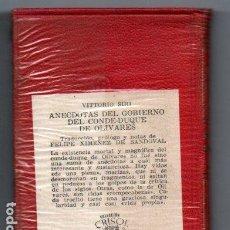 Libros de segunda mano: XIMENEZ DE SANDOVAL : ANÉCDOTAS DEL CONDE DUQUE DE OLIVARES (AGUILAR CRISOL) AÚN PRECINTADO. Lote 218950797