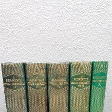 Libros de segunda mano: OBRAS COMPLETAS DE JACINTO BENAVENTE. EDIT. AGUILAR. 5 TOMOS PARES. AÑO 1945/46/47/56. Lote 219135543