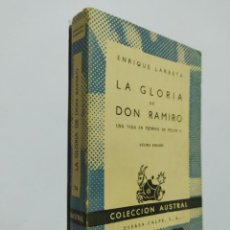 Libros de segunda mano: LA GLORIA DE DON RAMIRO. UNA VIDA EN TIEMPOS DE FELIPE II. ENRIQUE LARRETA. AUSTRAL Nº 74. TDK519. Lote 220415246