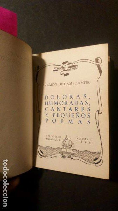 Libros de segunda mano: Doloras, humoradas, cantares y pequeños poemas - Ramón de Campoamor (colección más allá) - Foto 3 - 221087853