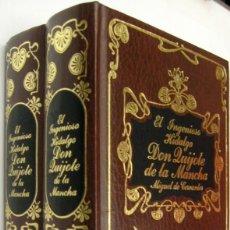 Libros de segunda mano: EL INGENIOSO HIDALGO DON QUIJOTE DE LA MANCHA - MIGUEL DE CERVANTES - ILUSTRACIONES - 2 TOMOS. Lote 221582833