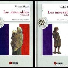 Libros de segunda mano: LAS 100 JOYAS DEL MILENIO. Nº 17. VICTOR HUGO. LOS MISERABLES. 2 TOMOS. P. JUANA SALABERT.. Lote 221919287