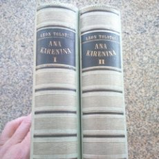 Libros de segunda mano: ANA KARENINA -- LEON TOLSTOI -- TOMO 1 Y 2 -- JOAQUIN GIL EDITOR 1943 --. Lote 222027223