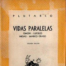 Libros de segunda mano: AUSTRAL Nº 969 : PLUTARCO - VIDAS. CIMON /LUCULO / NICIAS /MARCO CRASO (1950). Lote 222034810