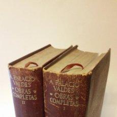 Libros de segunda mano: 1948 - PALACIO VALDÉS - OBRAS COMPLETAS. 2 TOMOS - AGUILAR ETERNAS. Lote 222141502