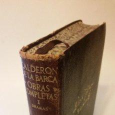 Libros de segunda mano: 1951 - CALDERÓN DE LA BARCA - OBRAS COMPLETAS I: DRAMAS - AGUILAR ETERNAS. Lote 222141775