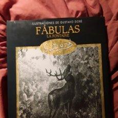 Libros de segunda mano: FABULAS, DE LA FONTAINE (CON 100 ILUSTRACIONES DE GUSTAVO DORE). EDIMAT. EXCELENTE ESTADO. Lote 222173140