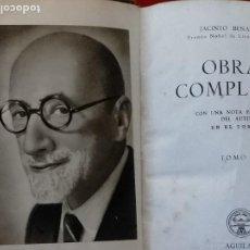 Libros de segunda mano: OBRAS COMPLETAS DE JACINTO BENAVENTE CRISOL PRIMERA EDICION AGUILAR DEL AÑO 1956 TOMO X. BUEN ESTADO. Lote 222348503