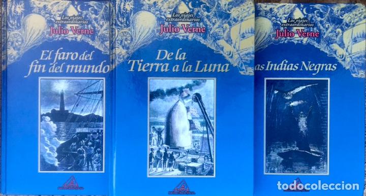 LOTE DE 3 LIBROS JULIO VERNE - TIERRA A LA LUNA - INDIAS NEGRAS - LOS VIAJES EXTRAORDINARIOS RUEDA (Libros de Segunda Mano (posteriores a 1936) - Literatura - Narrativa - Clásicos)
