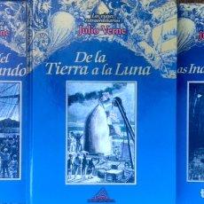 Libros de segunda mano: LOTE DE 4 LIBROS JULIO VERNE - LA VUELTA AL MUNDO EN 80 DIAS - LOS VIAJES EXTRAORDINARIOS RUEDA RBA. Lote 223133852