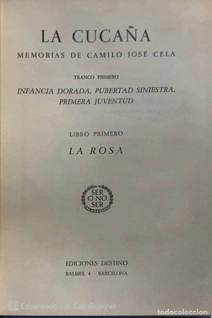 CAMILO JOSÉ CELA. LA CUCAÑA. MEMORIAS DE---. BARCELONA, 1959. 1ª EDICIÓN. (Libros de Segunda Mano (posteriores a 1936) - Literatura - Narrativa - Clásicos)
