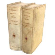 Libros de segunda mano: 1950 - W. SOMERSET MAUGHAM: OBRAS COMPLETAS - CUENTOS Y NOVELAS - PERGAMINO DE LUJO - 1ª ED.. Lote 224458786