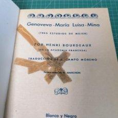 Libros de segunda mano: LOTE NOVELAS BLANCO Y NEGRO. 1935. ENCUADERNADAS. Lote 224693860