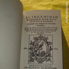 Libros de segunda mano: DON QUIJOTE DE LA MANCHA. 2 TOMOS. OBRA COMPLETA. AÑO 1994.. Lote 224698546