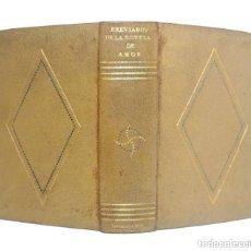 Libros de segunda mano: 1942 - ENCUADERNACIÓN FIRMADA - BREVIARIO DE LA NOVELA DE AMOR. +1500 PÁGINAS EN PAPEL BIBLIA - PIEL. Lote 224793326