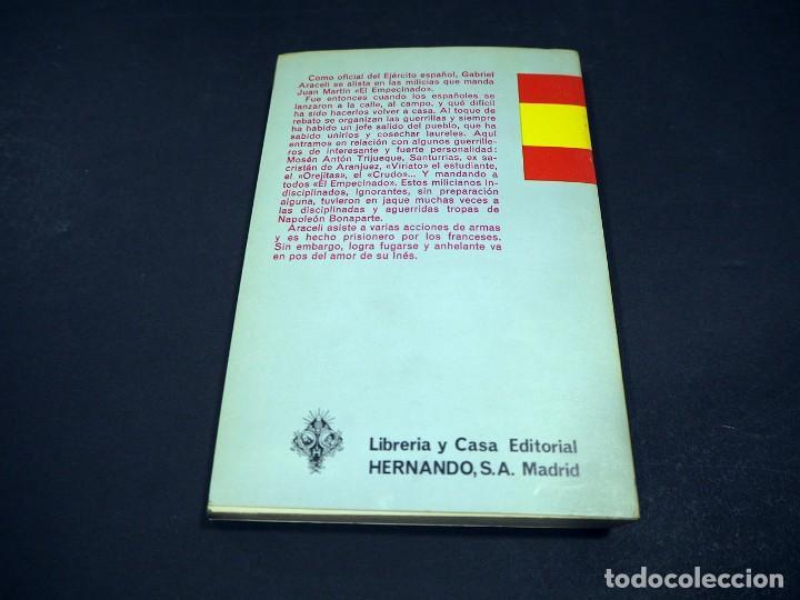 """Libros de segunda mano: Benito Perez Galdós. Juan Martin """"El empecinado"""". Episodios nacionales. Editorial Hernando, S.A 1971 - Foto 3 - 225323638"""