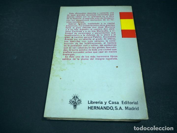 Libros de segunda mano: Benito Perez Galdós. Zaragoza. Episodios nacionales. Editorial Hernando, S.A 1970 - Foto 3 - 225324037
