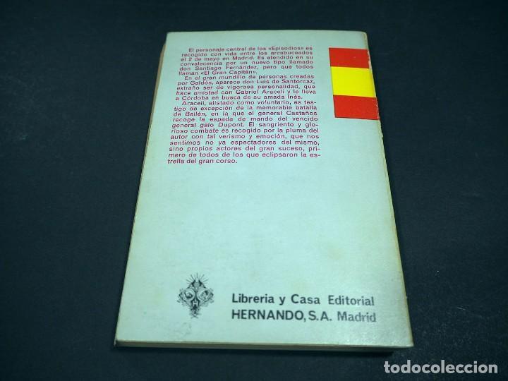 Libros de segunda mano: Benito Perez Galdós. Bailén. Episodios nacionales. Editorial Hernando, S.A 1970 - Foto 3 - 225324300