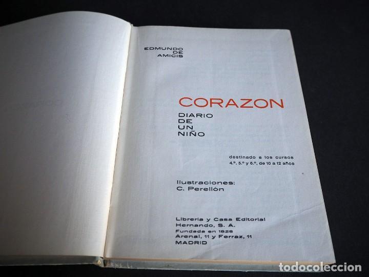 Libros de segunda mano: Edmundo de Amicis. Corazón. Ilustraciones de Perellón. Editorial Hernando, S.A 1972 - Foto 3 - 225338571