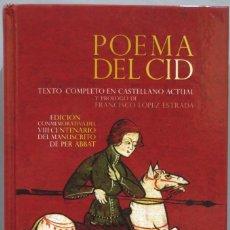 Libros de segunda mano: POEMA DEL CID. EDICIÓN CONMEMORATIVA DEL VIII CENTENARIO DEL MANUSCRITO DE PER ABBAT. CASTALIA. Lote 225849930