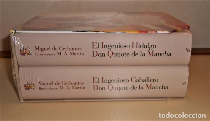 Libros de segunda mano: Don Quijote de la Mancha.2 TOMOS, Ilustraciones color de Miguel Á. Martín - Reino de Cordelia 2015 - Foto 2 - 226219545