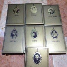 Libros de segunda mano: COLECCIÓN ORO CLÁSICOS EDICIONES GINER VIRGILIO TOLSTÓI DANTE CERVANTES GOETHE BALZAC WILDE. Lote 226349635