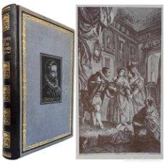 Libros de segunda mano: 1937 - LAS NOVELAS EJEMPLARES DE CERVANTES - PRECIOSA EDICIÓN ILUSTRADA - 28 CM. - ENCUADERNACIÓN. Lote 226837445