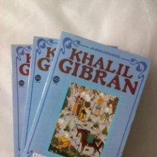 Libros de segunda mano: KHALIL GIBRAN. OBRAS COMPLETAS. 3 TOMOS. Lote 227252000