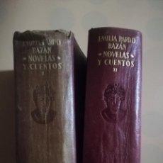 Libros de segunda mano: OBRAS COMPLETAS. EMILIA PARDO BAZAN. TOMO I Y II. 1ª ED. M. AGUILAR. 1947.. Lote 227583635