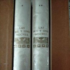 Libros de segunda mano: LAS MIL Y UNA NOCHES. 2 VOLUMENES. EDICIÓN DE 1964 ILUSTRADA CON 131 DIBUJOS DE J.NAVARRO.. Lote 227744845