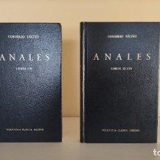 Libros de segunda mano: ANALES, CORNELIO TÁCITO (BIBLIOTECA CLÁSICA GREDOS). Lote 228256428