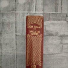 Libros de segunda mano: EDGAR WALLACE.NOVELAS DE INTRIGA Y DE MISTERIO 2 TOMOS .COLECCION JOYA AGUILAR.MADRID 1949. Lote 228470045