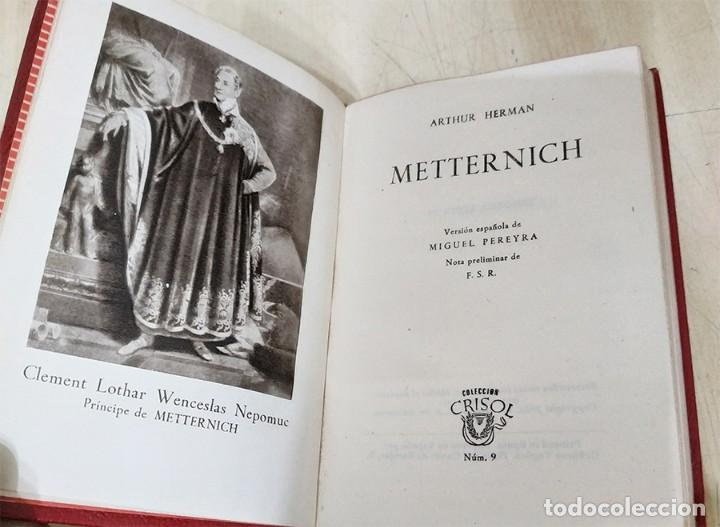 Libros de segunda mano: METTERNICH ARTHUR HERMAN AGUILAR 1952 COL. CRISOL N.9 - Foto 2 - 228510075