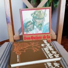 Libros de segunda mano: DON QUIJOTE DE LA MANCHA CUIDADA EDICIÓN AFHA AURIGA CON ESTUCHE CON DOS VOLÚMENES AÑOS 70. Lote 228539765