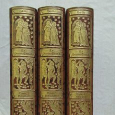 Libros de segunda mano: LA DIVINA COMEDIA COMPLETA 3 TOMOS. EJ N.º 1007/1499 CÍRCULO DEL BIBLIÓFILO AÑO 1975. Lote 228540225