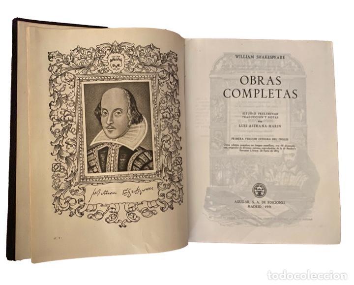 SHAKESPEARE, OBRAS COMPLETAS , AGUILAR 1964 (Libros de Segunda Mano (posteriores a 1936) - Literatura - Narrativa - Clásicos)