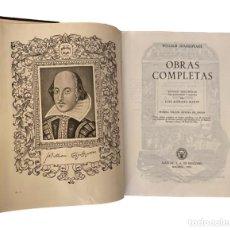 Libros de segunda mano: SHAKESPEARE, OBRAS COMPLETAS , AGUILAR 1964. Lote 229074655