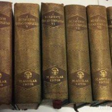 Libros de segunda mano: OBRAS COMPLETAS DE JACINTO BENAVENTE. 5 TOMOS , PUBLICADO POR AGUILAR 1940/47. Lote 229568295