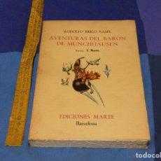 Libros de segunda mano: ARKANSAS ENVIO ECONOMICO RODOLFO RASPE AV. BARON MUNCHHAUSEN ED.MARTE 1967 TIRADA LIMITADA 3000. Lote 229570120