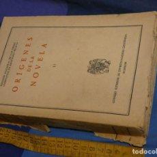 Libros de segunda mano: ARKANSAS ENVIO ECONOMICO M.MENENDEZ PELAYO 14 ORIGENES DE LA NOVELA VOL.2 1943. Lote 229576220