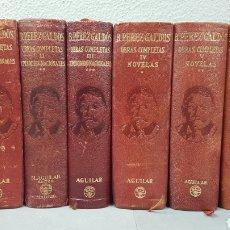 Libros de segunda mano: OBRAS COMPLETAS DE BENITO PÉREZ GALDÓS EN 6 TOMOS. EPISODIOS NACIONALES. ED. AGUILAR. Lote 229770090