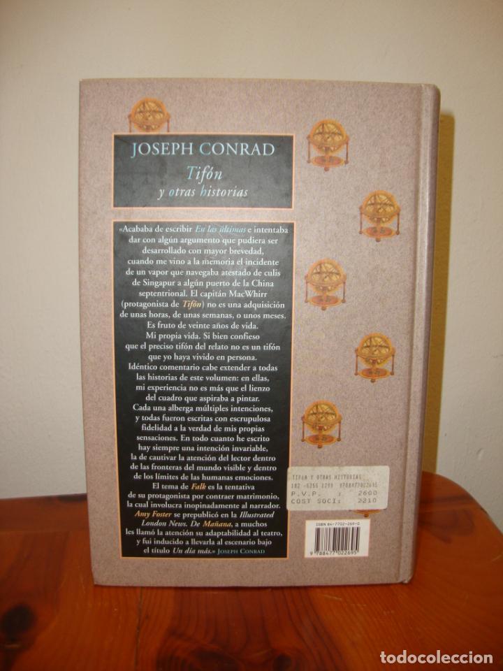 Libros de segunda mano: TIFÓN Y OTRAS HISTORIAS - JOSEPH CONRAD - VALDEMAR AVATARES, MUY BUEN ESTADO, PRIMERA ED. - Foto 3 - 243103210
