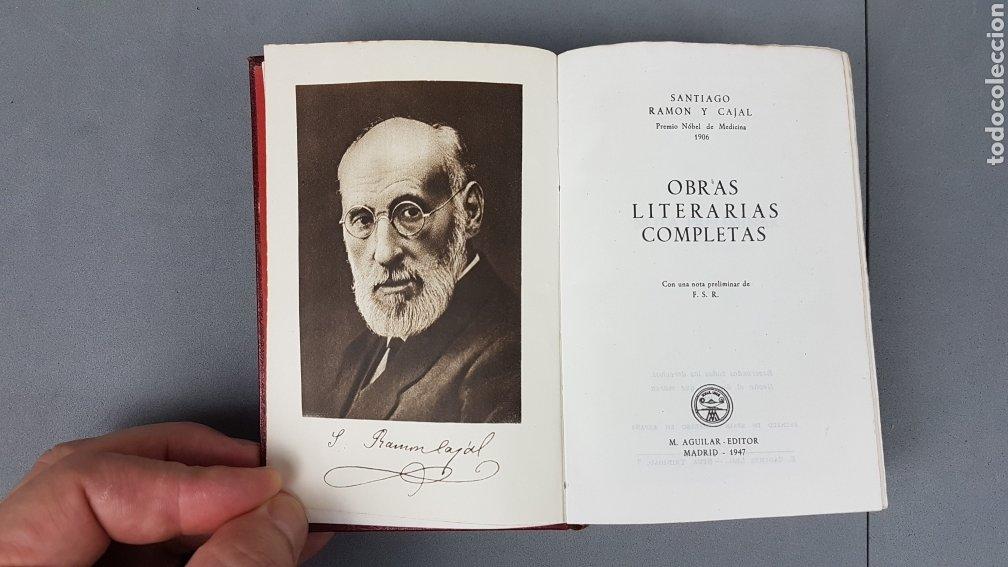 Libros de segunda mano: RAMON Y CAJAL OBRAS LITERARIAS COMPLETAS AGUILAR 1947. PRIMERA EDICIÓN - Foto 7 - 232601250