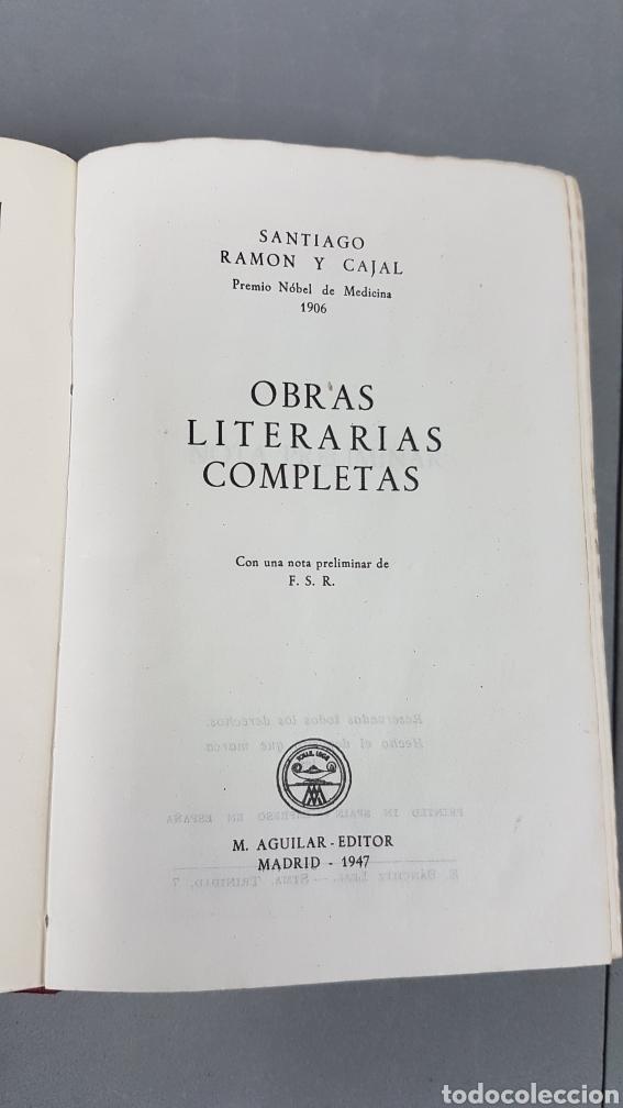 Libros de segunda mano: RAMON Y CAJAL OBRAS LITERARIAS COMPLETAS AGUILAR 1947. PRIMERA EDICIÓN - Foto 8 - 232601250