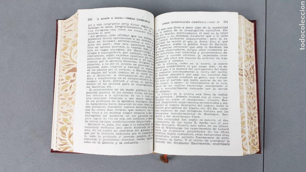 Libros de segunda mano: RAMON Y CAJAL OBRAS LITERARIAS COMPLETAS AGUILAR 1947. PRIMERA EDICIÓN - Foto 10 - 232601250