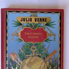 Libros de segunda mano: CINCO SEMANAS EN GLOBO, DE JULIO VERNE. RBA, EDICIÓN ILUSTRADA,. Lote 232777895