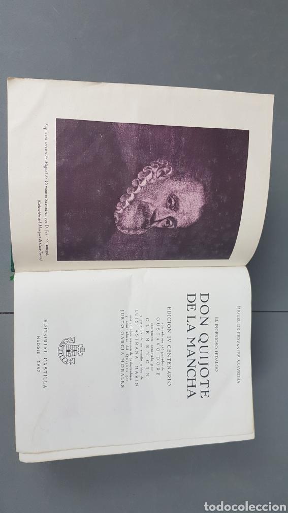 Libros de segunda mano: Libro de Don quijote de la Mancha. EdicionesCastilla,Madrid. Año 1947 - Foto 6 - 232797905